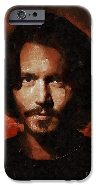 Johnny Depp, Hollywood Legend By Mary Bassett IPhone 6s Case by Mary Bassett