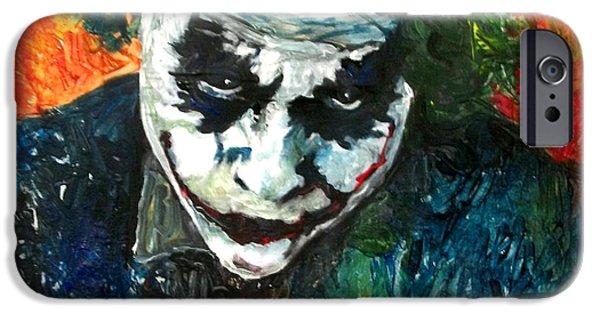 Heath Ledger iPhone 6s Case - Joker - Heath Ledger by Marcelo Neira