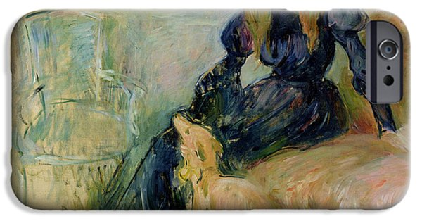 Julie Manet And Her Greyhound Laerte IPhone Case by Berthe Morisot