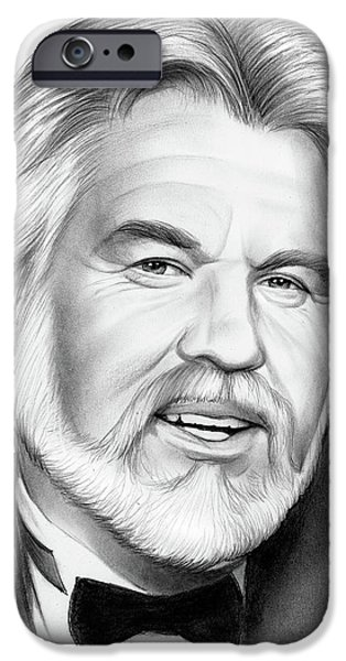Pencil iPhone 6s Case - Kenny Rogers by Greg Joens