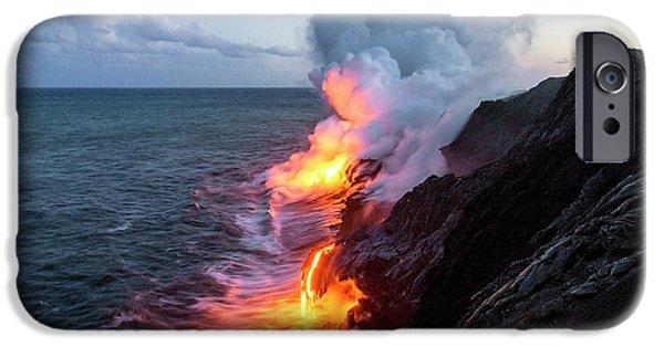 Kilauea Volcano Lava Flow Sea Entry 3- The Big Island Hawaii IPhone 6s Case by Brian Harig