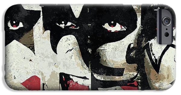 Rock And Roll iPhone 6s Case - Kiss Art Print by Geek N Rock