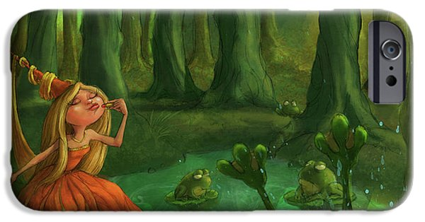 Castle iPhone 6s Case - Kissing Frogs by Andy Catling