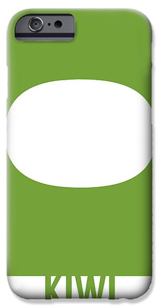 Kiwi iPhone 6s Case - Kiwi Food Art Minimalist Fruit Poster Series 020 by Design Turnpike