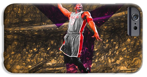 Kobe Bryant Black Mamba Digital Painting IPhone 6s Case by David Haskett
