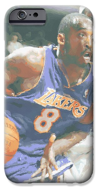 Kobe Bryant Lebron James IPhone 6s Case by Joe Hamilton