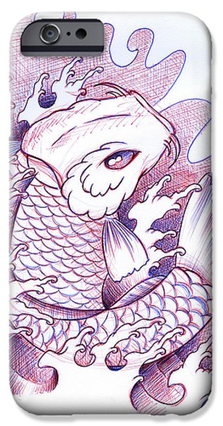 Koi iPhone 6s Case - Koi Carp Tattoo Art by Samuel Whitton