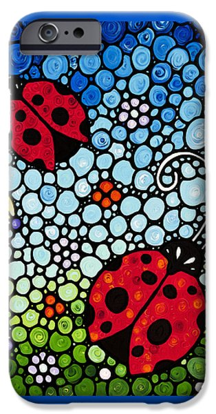 Ladybug Art - Joyous Ladies 2 - Sharon Cummings IPhone 6s Case by Sharon Cummings