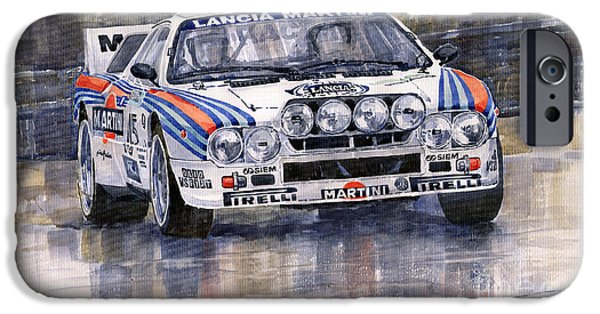 Car iPhone 6s Case - Lancia 037 Martini Rally 1983 by Yuriy Shevchuk