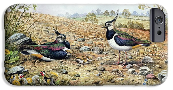 Lapwing iPhone 6s Case - Lapwing Family With Goldfinches by Carl Donner
