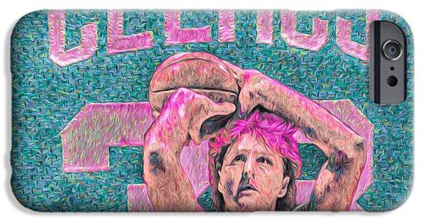 Larry Bird Boston Celtics Digital Painting Pink IPhone 6s Case by David Haskett