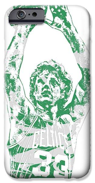 Larry Bird iPhone 6s Case - Larry Bird Boston Celtics Pixel Art 5 by Joe Hamilton