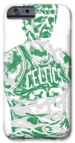 Larry Bird iPhone 6s Case - Larry Bird Boston Celtics Pixel Art 6 by Joe Hamilton