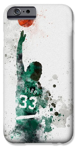 Larry Bird IPhone 6s Case by Rebecca Jenkins