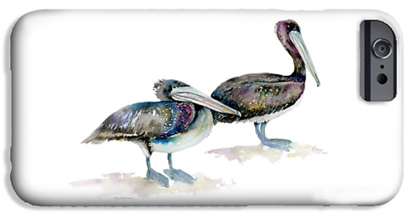 Laurel And Hardy, Brown Pelicans IPhone 6s Case by Amy Kirkpatrick