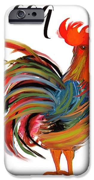 Rooster iPhone 6s Case - Le Coq Art Nouveau Rooster by Mindy Sommers