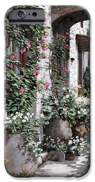 Le Rose Rampicanti IPhone Case by Guido Borelli