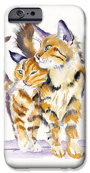 Cat iPhone 6s Case - Lean On Me by Debra Hall