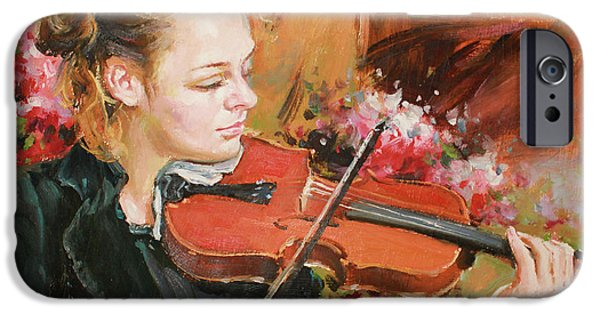 Violin iPhone 6s Case - Learning The Violin by Conor McGuire