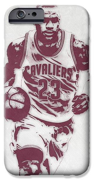 Lebron James Cleveland Cavaliers Pixel Art 4 IPhone 6s Case by Joe Hamilton