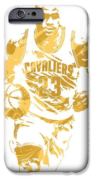 Lebron James Cleveland Cavaliers Pixel Art 7 IPhone 6s Case by Joe Hamilton