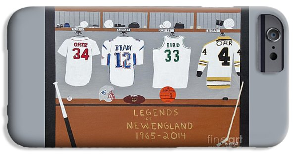 Larry Bird iPhone 6s Case - Legends Of New England by Dennis ONeil