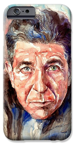 Rolling Stone Magazine iPhone 6s Case - Leonard Cohen Painting by Suzann's Art