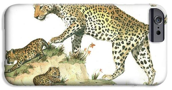Leopard iPhone 6s Case - Leopard Family by Juan Bosco
