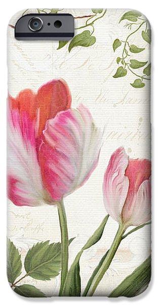Les Magnifiques Fleurs I - Magnificent Garden Flowers Parrot Tulips N Indigo Bunting Songbird IPhone 6s Case