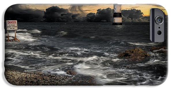 Puffin iPhone 6s Case - Lighthouse Storm by Adrian Evans