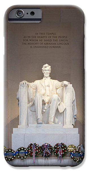 Lincoln Memorial I IPhone Case by Clarence Holmes