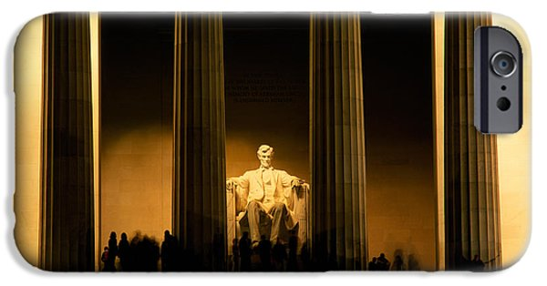 Lincoln Memorial Illuminated At Night IPhone 6s Case by Panoramic Images