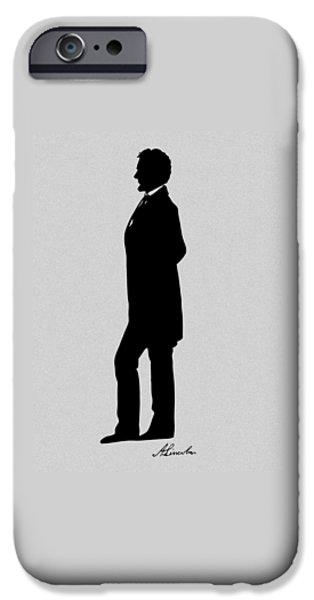 Lincoln Silhouette And Signature IPhone 6s Case