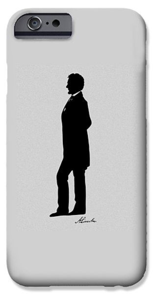 Abraham Lincoln iPhone 6s Case - Lincoln Silhouette And Signature by War Is Hell Store