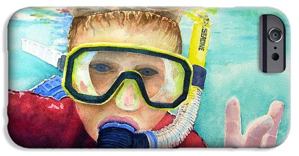 Scuba Diver iPhone 6s Case - Little Diver by Sam Sidders