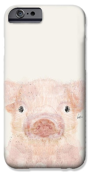 Pig iPhone 6s Case - Little Pig by Bleu Bri