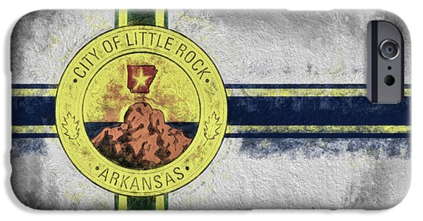 IPhone 6s Case featuring the digital art Little Rock City Flag by JC Findley