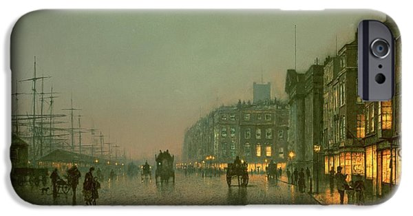 Liverpool Docks From Wapping IPhone 6s Case by John Atkinson Grimshaw