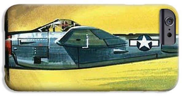 Airplane iPhone 6s Case - Lockheed P-38j Lightning by Wilf Hardy