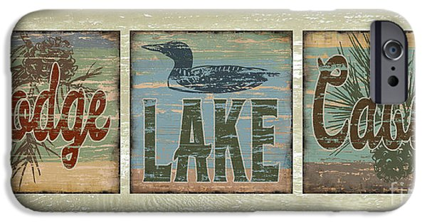Lodge Lake Cabin Sign IPhone 6s Case by Joe Low