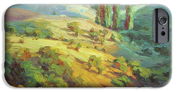 Impressionism iPhone 6s Case - Lombardy Homestead by Steve Henderson