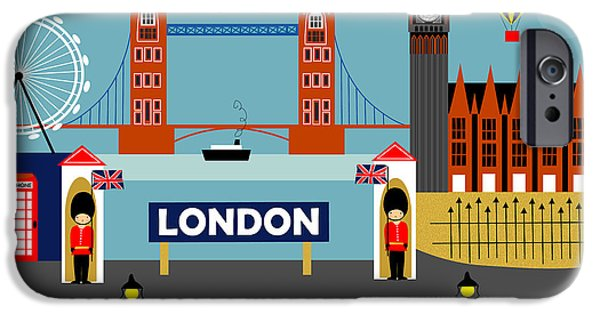 London England Horizontal Scene - Collage IPhone 6s Case by Karen Young