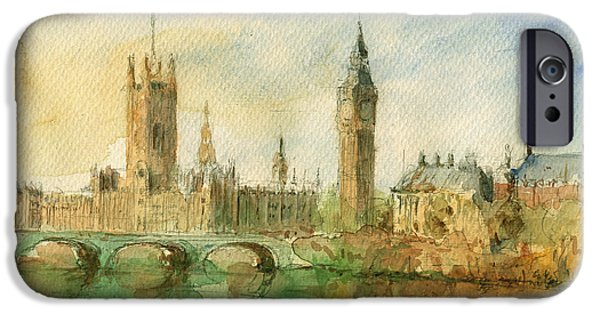 London Parliament IPhone 6s Case by Juan  Bosco