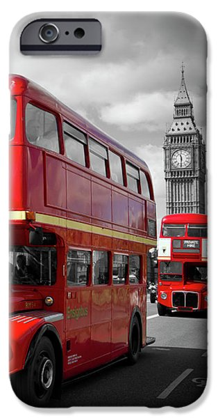 London Red Buses On Westminster Bridge IPhone 6s Case