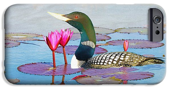 Loon iPhone 6s Case - Loon And Lotus by Laura D Young