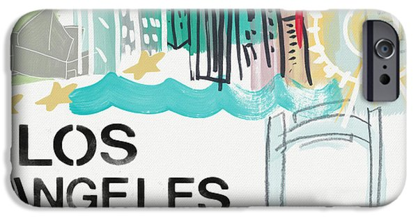 Santa Monica iPhone 6s Case - Los Angeles Cityscape- Art By Linda Woods by Linda Woods