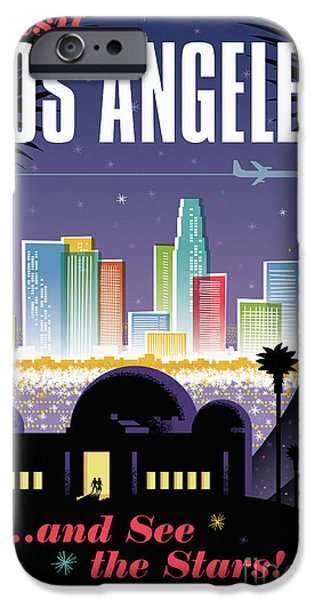 Los Angeles Retro Travel Poster IPhone 6s Case by Jim Zahniser