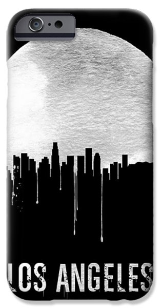 Los Angeles Skyline Black IPhone 6s Case by Naxart Studio