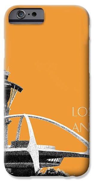 Los Angeles Skyline Lax Spider - Orange IPhone 6s Case by DB Artist