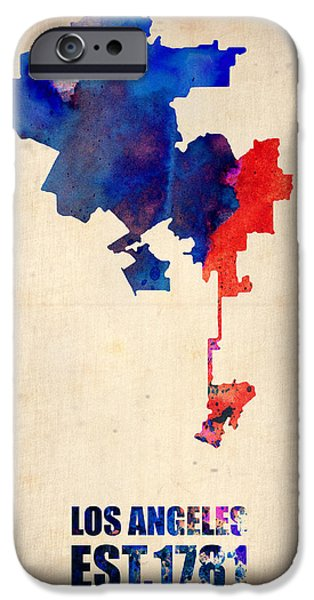 Los Angeles Watercolor Map 1 IPhone 6s Case